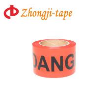 Hot sales non adhesive red danger pe warning tape