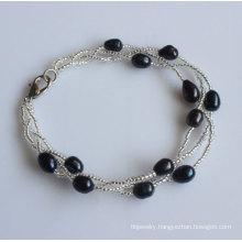 Cheap Jewelry Freshwater Pearl Bracelet (EB1536-1)