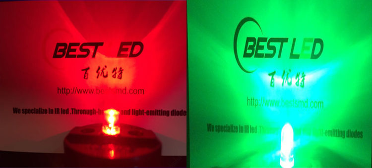 red and green flashing led