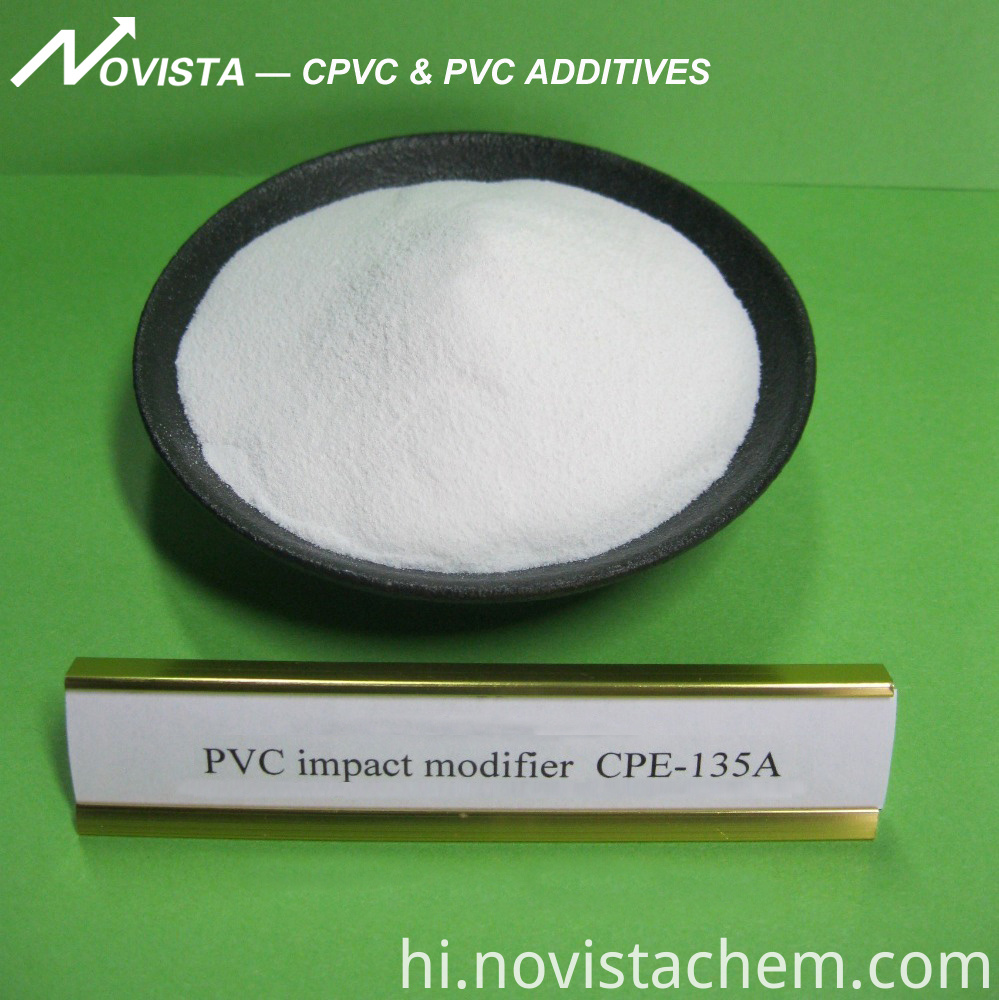 Pvc Impact Modifier Cpe 135a White Powder