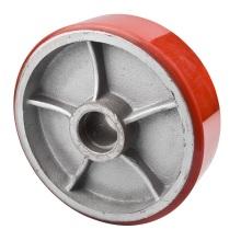 180X50mm PU Gusseisen Gabelstapler Caster Wheel