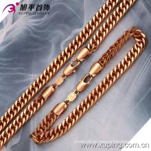 Regalo del día del padre Corea joyas cadena de moda conjunto (63106)