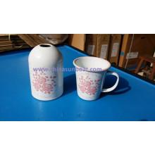 Sunboat europäischen Stil getrocknete Blume Porzellan Emaille Vase