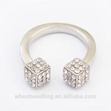 Nouveau design cube diamante fashion ring