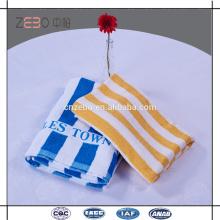 Hot Sale fios tingidos toalha de praia Estilo Logo personalizado Hotel Twenty One toalhas de banho