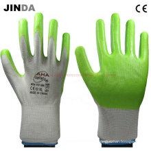 Ns020 Nitrile-Nylon guantes de trabajo revestidos
