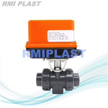 Válvula de bola de PVC Tipo de interruptor eléctrico