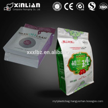 Economic resealable eight sides sealed plastic pet food packaging bags