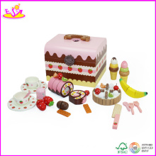 2014 New Birthday Cake Wooden DIY Toys, Kids Food Series DIY Cake Decoration Wooden Cake Toy W10b053