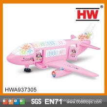 Magic barato brinquedo de plástico 3D modelo de avião musical