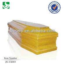 vente en gros de style européen mélèze humaine cercueil en bois fabriqué en Chine