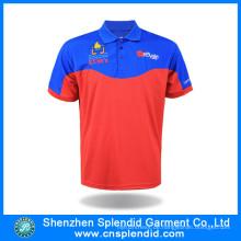 Günstigstes Kundenspezifisches Farb- und Logo-Polyester-Männer Polo-Hemd 100%