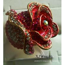 Diamond Big Red Enamel Ring (XJW1440)