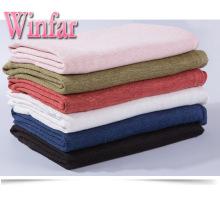 190gsm épaissir 100% tissu tricoté de chanvre pour vêtement