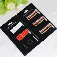 30 peças de cartão embalado colorido metal bobby pinos (je1030)