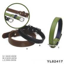 Collar de perro al por mayor de la caza, collar de perro de cuero (YL82417)