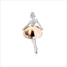 VAGULA кристалл моды танцор Серебряная брошь