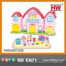 Belleza de plástico moderno Villa Toy Pretend Play Juguetes Kid