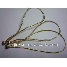 маленькие металлические шарики эластичный резиновый шнур ,Искра Золотая эластичная