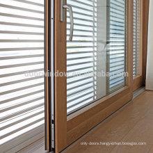 Doorwin patio doors glass partition door aluminum clad oak lift sliding door from China supplier