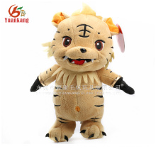 Boneco de tigre de pelúcia recheado bonito 35cm