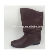 26.0cm высокие женщины неподдельные кожаные ботинки продают оптом на зиме / осени высокие ботинки зимы ботинок леди одиночные