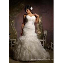 Mermaid Organza Plus Size Ladies Clothes Bridal Wedding Dress (3124)