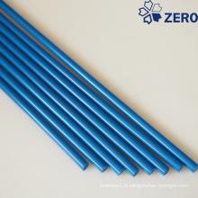 Tige en acétal de couleur bleue