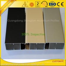 Perfil de alumínio de eletroforese para janela de ponta e decoração de porta
