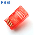 Red Colo 8P8C Cat5e Ethernet разъем кабеля