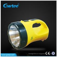 Batteriebetriebene ABS Körper gute Qualität 2 W LED Taschenlampe mit Schreibtisch Licht