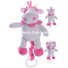 Factory Supply of Baby Stuffed Plush Musical Movement Hang Toy