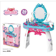 Pretend Play Kids Fishon Beauty set Vanity Table Make Up Toy for Girls