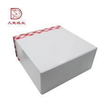 China personalizado personalizado branco personalizado impresso caixa de bolo bonito