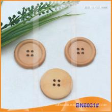 Boutons en bois naturel pour vêtement BN8031