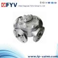 Válvula de bola manual de acero inoxidable de cuatro vías