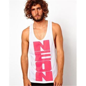 Preiswertes Baumwoll-Y-Back-Unterhemd mit Custom Printing