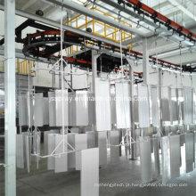 Linha de pulverização da pintura eletrostática personalizada do equipamento da pintura