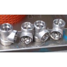 Ditempa Baja Tinggi Tekanan Threaded Socket Weld Fitting