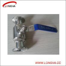 Válvula de bola con abrazadera sanitaria 316 del acero inoxidable de Wenzhou