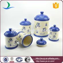 Fabricante de cerámica jarra de almacenamiento conjunto de 5 piezas