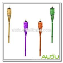 Audu Baratos Antorcha De Bambú De Jardín De Color / Linterna Tri Color