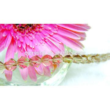 Cristal de cristal facetado giro perlas para joyería decoraciones