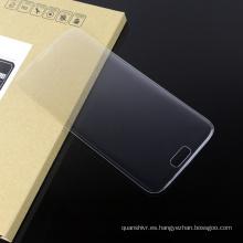 ¡Alta calidad! Protector de pantalla de cristal templado móvil anti rasguños 3D de borde curvo para Samsung s7