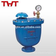 Válvula de liberación de aire combinada de brida de hierro dúctil fundido con manómetro