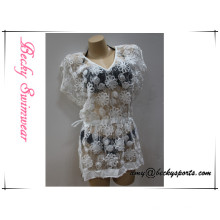 New Design Ladies′s Simwear Coverup Blouse Custom Color with Floral Lace, High Quality