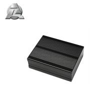 perfil de caixas de alumínio anodizado preto para eletrônica