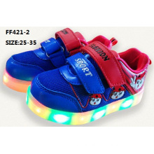 Children Latest Good Saling Flash Light LED Shoes Sub Plug-in Luminous LED Shoes (FF421-2)