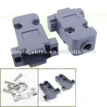 Plastic DB9 RS232 Male Female Hoods DB9 Connector Shells Cover with Screws