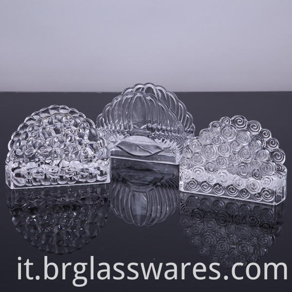 crystal glass napkin holder 4